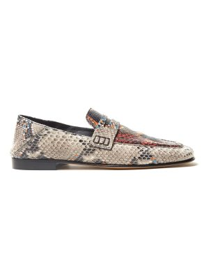 Isabel Marant Fezzy collapsible-heel python-effect loafers