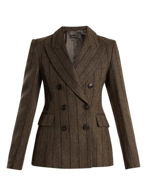 Isabel Marant Kelsey double-breasted striped wool-blend jacket