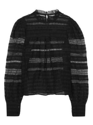 Isabel Marant ronny lace-paneled silk and linen