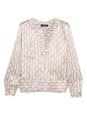 Isabel Marant simon printed hammered silk