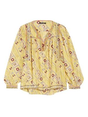 Isabel Marant tyron embroidered printed silk