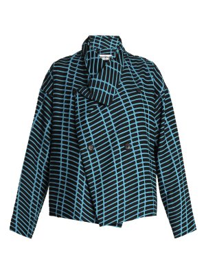 Issey Miyake Skew drop-shoulder graphic-embellished jacket