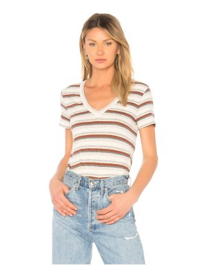 James Perse V Neck Seamed Tee