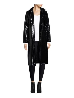 JANE POST high shine slicker long coat