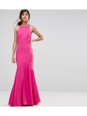 JARLO Fishtail Maxi Dress With Open Bow Back
