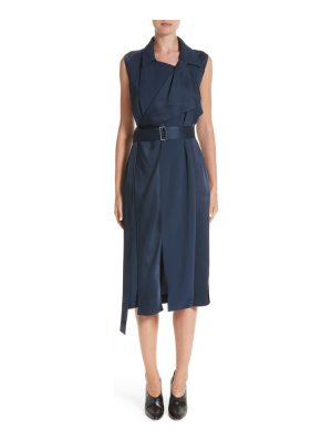 Jason Wu crepe back satin belted wrap dress