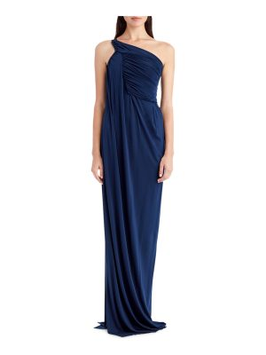 Jason Wu One-Shoulder Jersey Evening Gown with Ruching