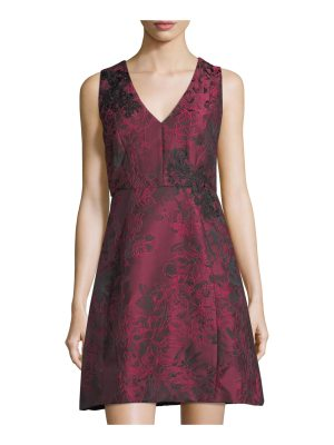 JAX Floral Jacquard Fit & Flare Dress