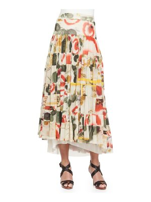 Jean Paul Gaultier Printed Garden Tiered Skirt
