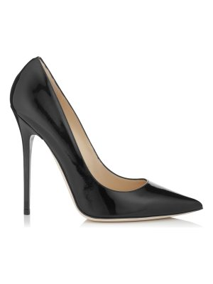 Jimmy Choo ANOUK Black Patent Leather Pointy Toe Pumps