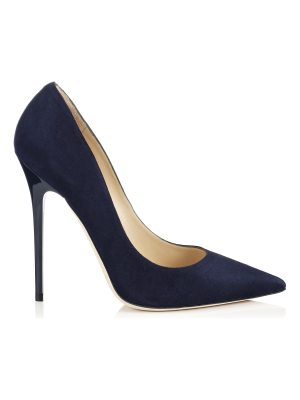 Jimmy Choo ANOUK Navy Suede Pointy Toe Pumps