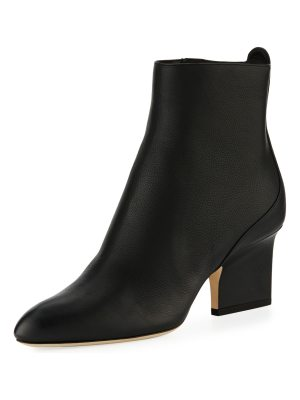 Jimmy Choo Autumn Grainy Leather 65mm Booties