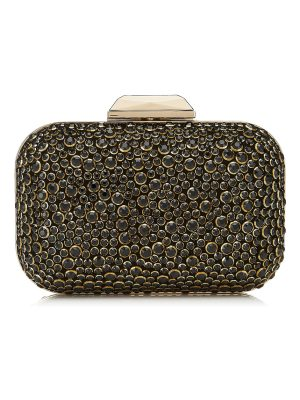Jimmy Choo CLOUD Black Halo Crystal Covered Clutch Bag