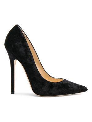 Jimmy Choo Crushed Velvet Anouk Heels