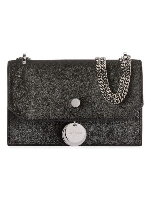 Jimmy Choo Finley Metallic Velvet Crossbody Clutch Bag