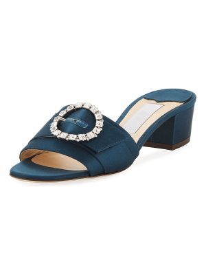 Jimmy Choo Granger Satin Slide Sandal