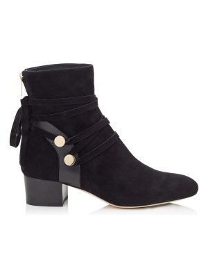 Jimmy Choo HOUSTON 45 Black Suede Ankle Boots