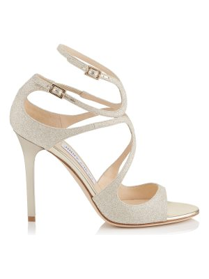 Jimmy Choo LANG Platinum Ice Dusty Glitter Sandals