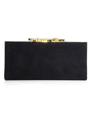 Jimmy Choo celeste suede box clutch