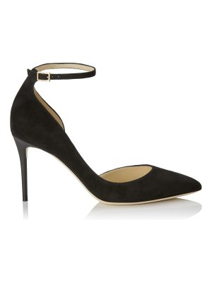 Jimmy Choo LUCY 85 Black Suede Pointy Toe Pumps