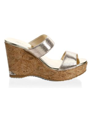 Jimmy Choo parker leather wedge sandals