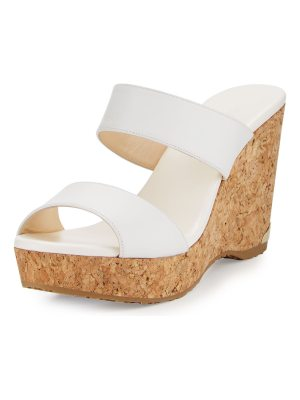 Jimmy Choo Parker Two-Band Cork Wedge Sandal