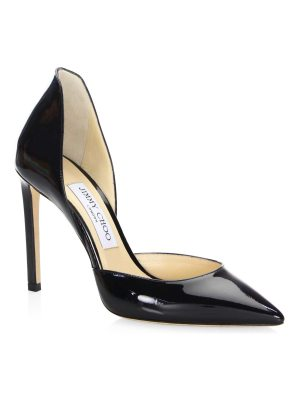 Jimmy Choo patent leather point toe pumps