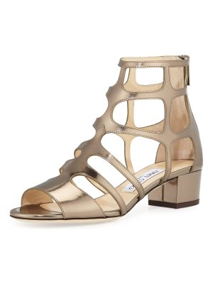 Jimmy Choo Ren Mirrored Caged 35mm Sandals