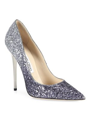 Jimmy Choo romy 100 glitter degrade point toe pumps