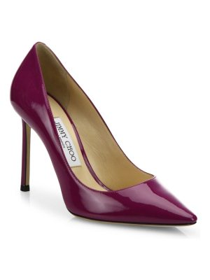 Jimmy Choo romy 100 patent leather point toe pumps