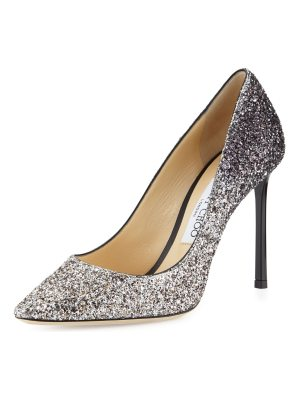 Jimmy Choo Romy Glitter Pointed-Toe 100mm Pumps