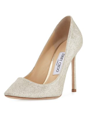 Jimmy Choo Romy Glittered 100mm Pumps
