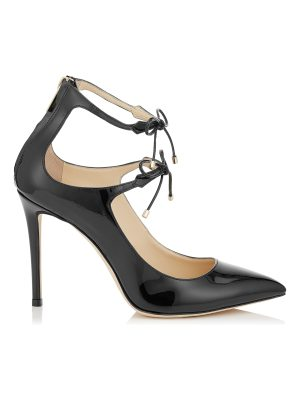 Jimmy Choo SAGE 100 Black Patent Leather Pumps