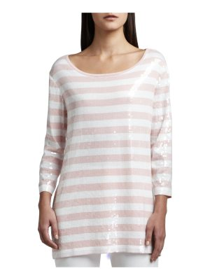 Joan Vass Sequined Striped Tunic