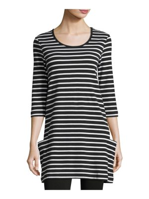 Joan Vass Striped Cotton Interlock Tunic