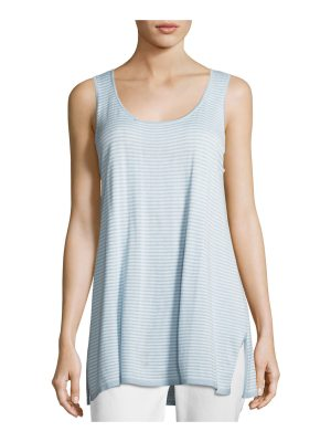 Joan Vass Striped Tunic Tank Top
