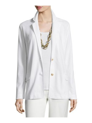 Joan Vass Two-Button Pique Blazer