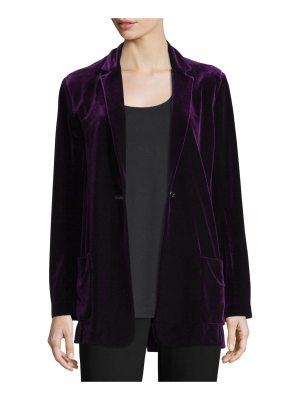 Joan Vass Velvet Button-Front Jacket