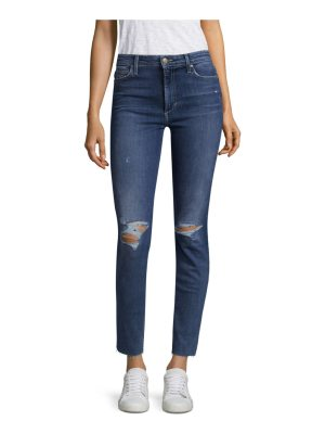 Joe's charlie high-rise distressed ankle skinny jeans