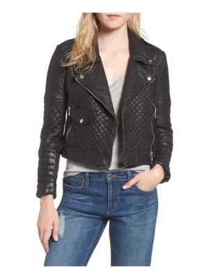 Joe's quilted leather moto jacket