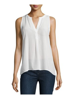 Joie Aruna Split-Neck Silk Top