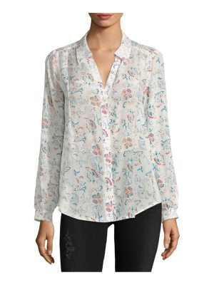 Joie Floral-Pattern Button-Down Shirt