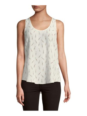 Joie Graphic Silk Tank Top