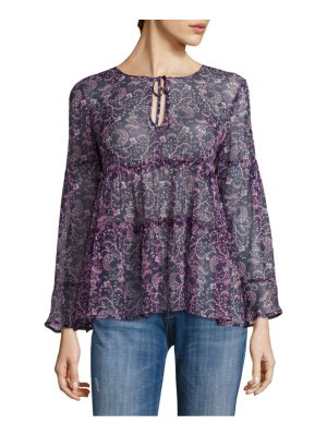 Joie shawni floral-print silk blouse