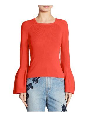 JONATHAN SIMKHAI signature bell sleeve knit sweater