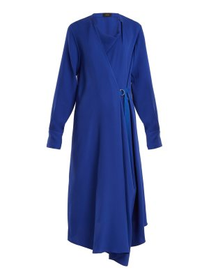 Joseph Arran Waist Tie Draped Silk Crepe Dress