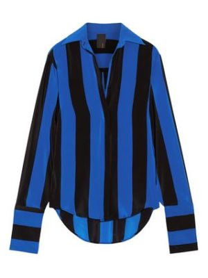 Juan Carlos Obando striped silk crepe de chine blouse