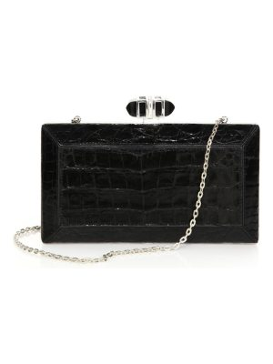 Judith Leiber Couture crocodile clutch