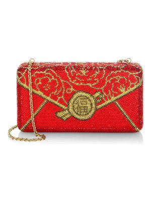 Judith Leiber Couture hong bao crystal clutch