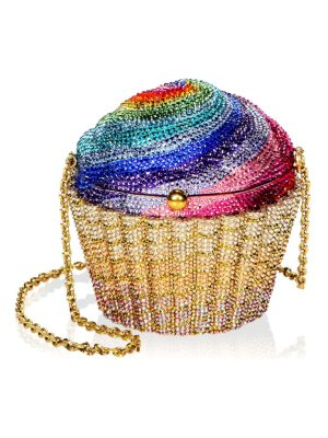 Judith Leiber Couture rainbow cupcake crystal clutch